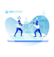 gaming mobile application vector image