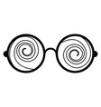 glasses crazy object vector image vector image