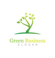 green business logo vector image vector image