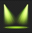 green spotlight light effect vector image