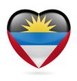 Heart icon of Antigua and Barbuda vector image