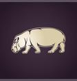 hippo logo icon vector image