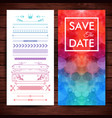 image of cheery save the date invitation template vector image vector image