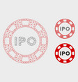 ipo token mesh carcass model and triangle vector image vector image