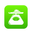 kitchen scales icon green vector image vector image