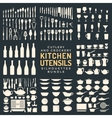 Kitchen utensils silhouettes bundle