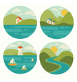 landscape and nature vector image vector image