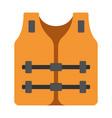 life jacket flat vector image