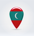 Maldivian icon point for map vector image vector image