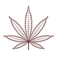 marijuana or cannabis leaf medical cannabis vector image vector image