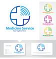 medicine service logo vector image