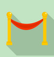 museum barrier icon flat style vector image