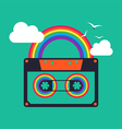 music rainbow cassette abstract background vector image vector image