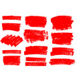 painted grunge stripes set vector image vector image