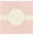 Pink vintage grunge background vector image vector image