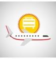 plane white sun symbol travel suitcase design vector image