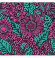 seamless floral pattern with fancy flowers vector image vector image