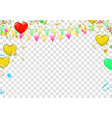 seamless pattern of realistic glossy balloons vector image