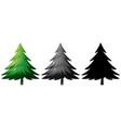 set of pine tree vector image