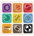 set with sport balls vector image