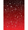 snowflake red sky vector image vector image