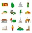 Sri Lanka Icons vector image