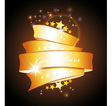 stars and gold ribbon vector image vector image