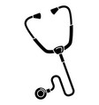 stethoscope medical isolated icon vector image vector image