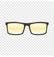 sun glasses mockup realistic style vector image