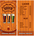 template for cover beer menu vector image vector image