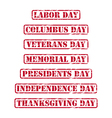 USA holidays rubber stamps vector image