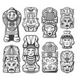 vintage maya civilization objects collection vector image