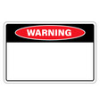 warning sign danger with empty space for text vector image vector image