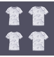 White short sleeve t-shirts templates with the vector image