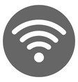 wifi icon gray vector image vector image