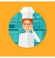 Chief cooker having idea vector image