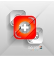 First aid modern 3d paper design vector image