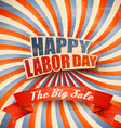 Labor Day Sale Retro Background vector image