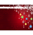 red card with christmas balls vector image