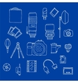 Photography Equipment Doodle Set vector image