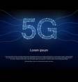 5g background with polygon mesh binary codes vector image vector image