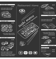 a sushi menu template vector image