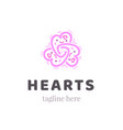 abstract ornate heart graphic symbol ornamental vector image vector image