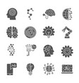 artificial intelligence different icons set ai vector image vector image