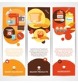 Bakery vertical banner set vector image vector image
