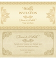Baroque wedding invitation gold vector image vector image