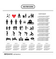 basic icon set for human life info graphic vector image vector image