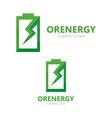 battery logo design template vector image vector image