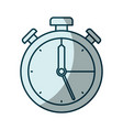 blue shading silhouette of stopwatch icon vector image vector image