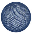 blue sphere consisting polygons 3d vector image vector image